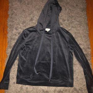 Charcoal grey Lou & Grey Velour hoodie!